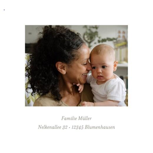 Geburtskarten Liebliches blattwerk leporello blau - Seite 5