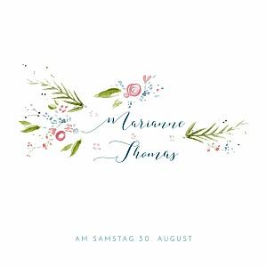 Hochzeitseinladungen frühlingshauch (quadratisch) weiß