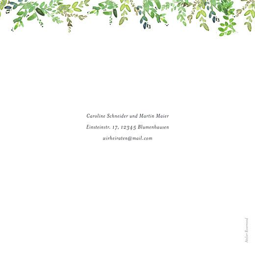 Hochzeitseinladung Naturschmuck grün