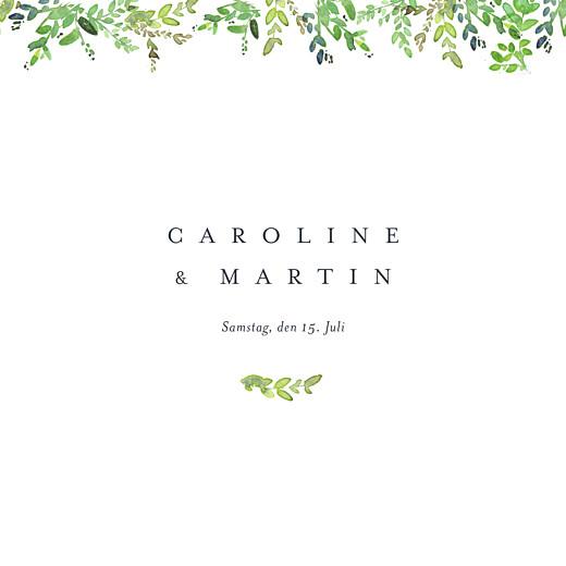 Hochzeitseinladungen Naturschmuck grün