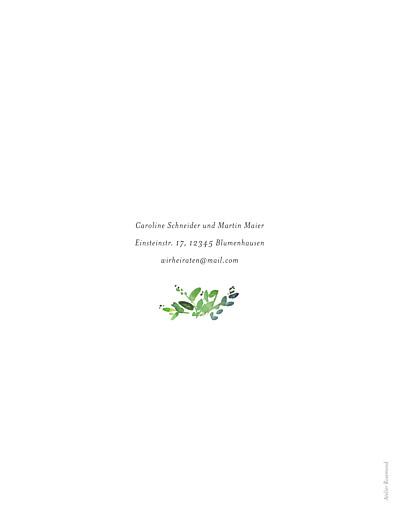 Hochzeitseinladungen Naturschmuck (portrait) grün - Seite 2