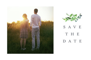 Save-the-Date Karte Naturschmuck grün