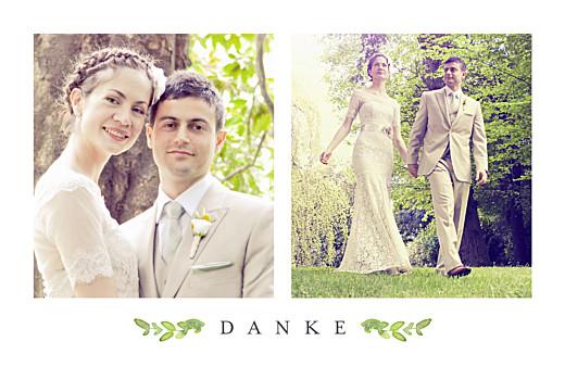 Dankeskarten Hochzeit Naturschmuck grün