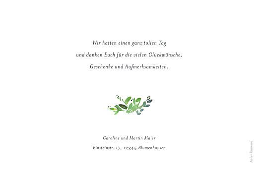 Dankeskarten Hochzeit Naturschmuck grün - Seite 2
