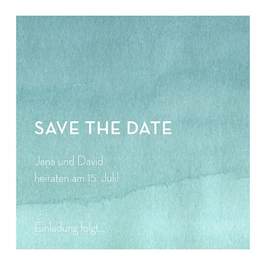 Save-the-Date Karten Aquarell blau