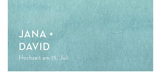 Platzkarte Aquarell blau