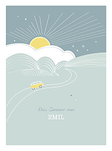 Poster groß Sunshine blau