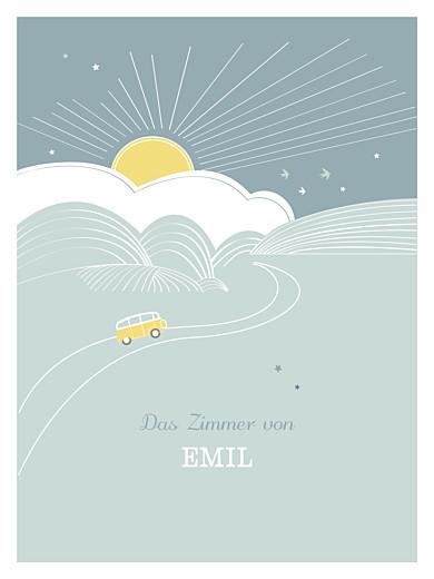 Poster klein Sunshine blau - Seite 1