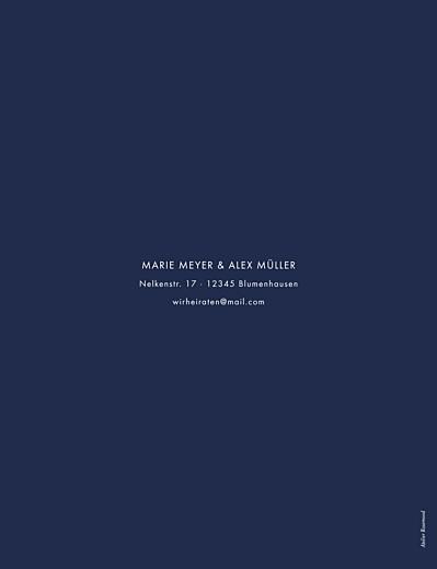 Hochzeitseinladungen Edle funken (gold) marineblau - Seite 2