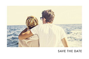 Save-the-Date Karte Edle funken (gold) marineblau