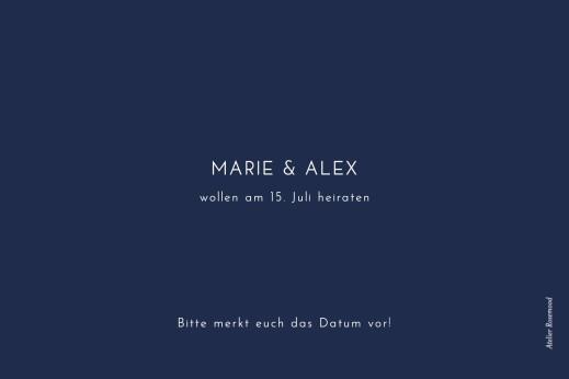 Save-the-Date Karten Edle funken (gold) marineblau - Seite 2