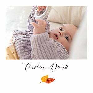 Mini Dankeskarten Herbstoutfit weiß