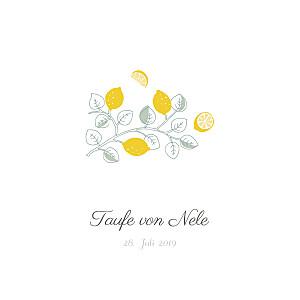 Taufeinladung Zitronen gelb