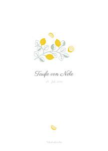 Kirchenheft Zitronen gelb