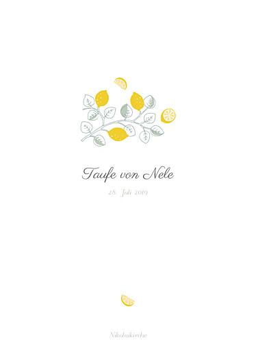 Kirchenheft Taufe Zitronen gelb