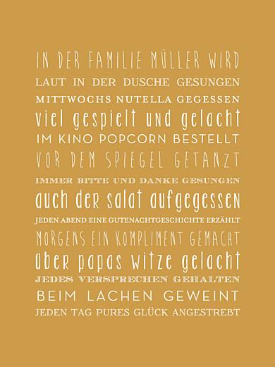Poster klein Unsere familie gelb - Seite 1