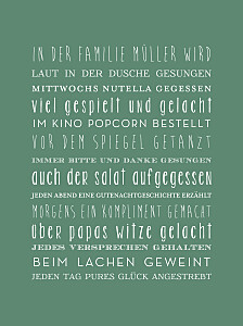 Poster groß unsere familie grün