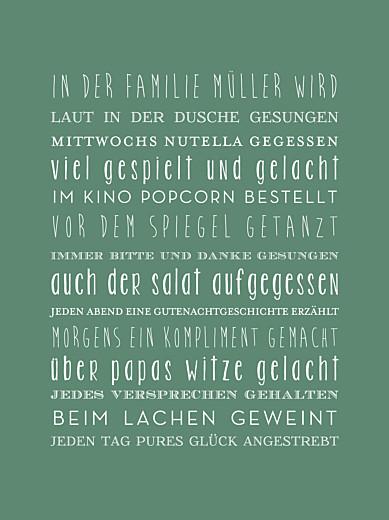 Poster groß Unsere familie grün - Seite 1