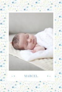 Geburtskarte Liberty sterne hoch blau