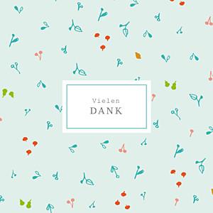 Mini Dankeskarten Frühlingsernte blau