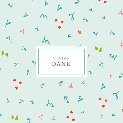 Mini Dankeskarten Frühlingsernte blau finition