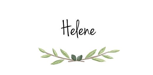 Platzkarte Taufe Olivenzweig grün