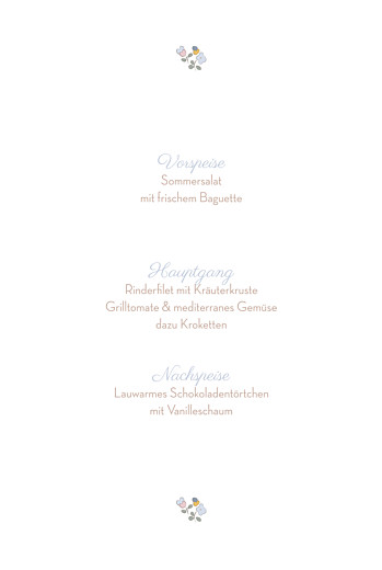 Menükarten Taufe Blumenwiese blau - Seite 3