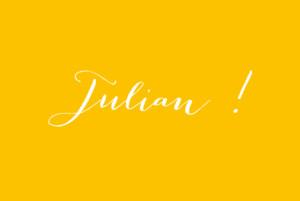 Geburtskarte My name beidseitig gelb