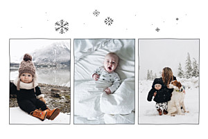 Geburtskarte Winterversprechen 3 fotos weiß