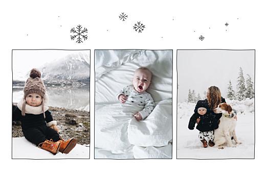 Geburtskarten Winterversprechen 3 fotos weiß