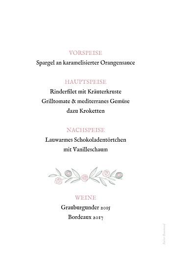 Menükarten Taufe Blütenzauber weiß rosa - Seite 2