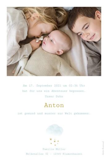 Geburtskarten Wölkchen blau - Seite 2