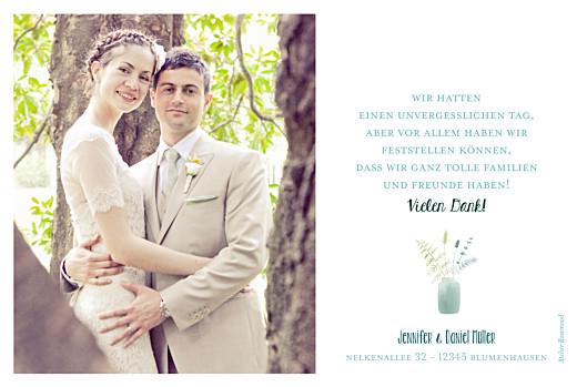 Dankeskarten Hochzeit Wildblumen foto rosa - Seite 2
