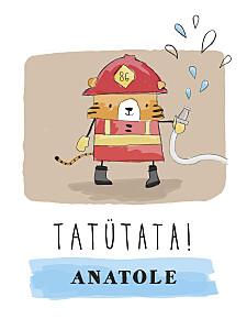 Poster klein Feuerwehr rot