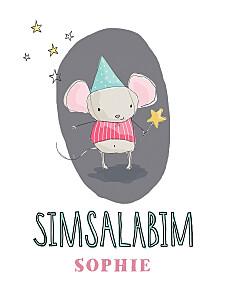 Poster klein Fee rosa
