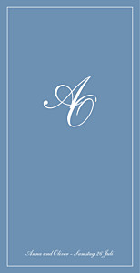 Menükarte Chic (klappkarte) blau