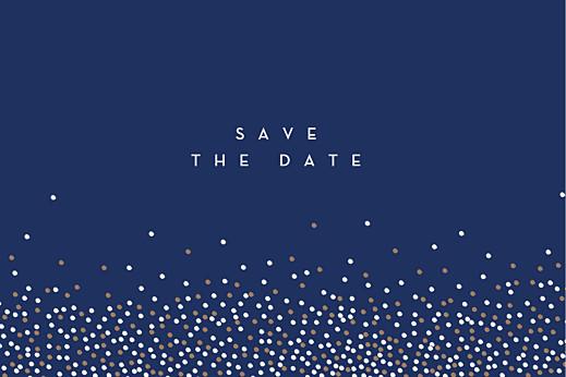 Save-the-Date Karten Confetti blau