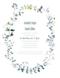 Hochzeitseinladung Wildblumen (hoch) rosa
