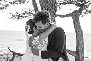 Dankeskarten Hochzeit Lichterregen sand
