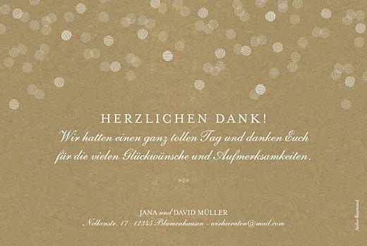Dankeskarten Hochzeit Lichterregen sand - Seite 2