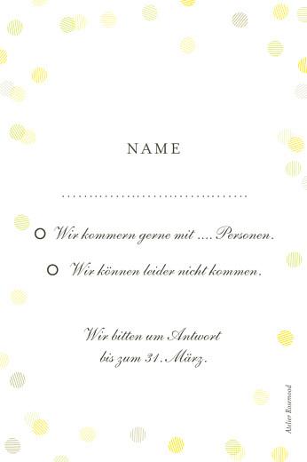 Antwortkarte Hochzeit Lichterregen sand - Seite 2