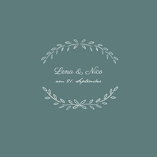 Hochzeitseinladungen Lyrik grün