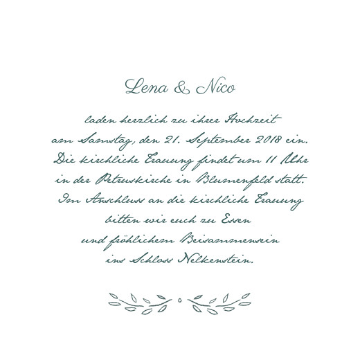 Hochzeitseinladungen Lyrik grün - Seite 3
