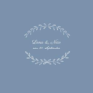Hochzeitseinladungen blau lyrik blau