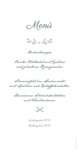 Menükarte Lyrik grün - Seite 2