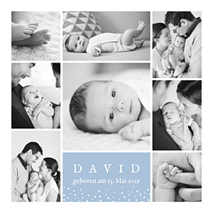 Geburtskarten zwillinge erinnerung sterne 8 fotos blau