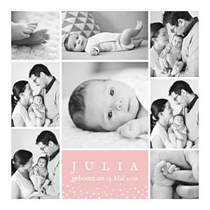 Geburtskarten rosa erinnerung sterne 8 fotos rosa