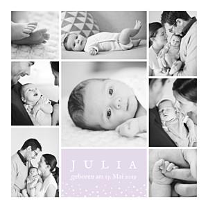 Geburtskarten violett erinnerung sterne 8 fotos lavandel