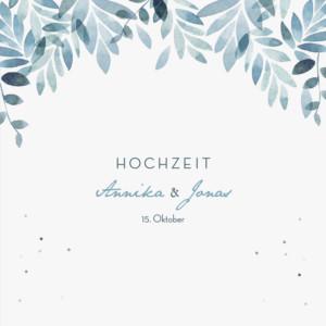 Hochzeitseinladungen Sommernacht (klappkarte) blau