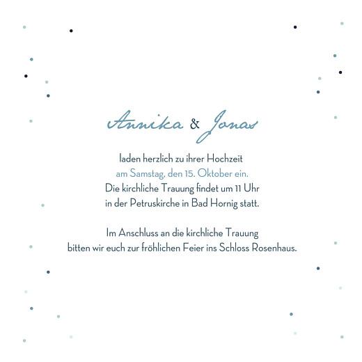 Hochzeitseinladung Sommernacht (klappkarte) blau